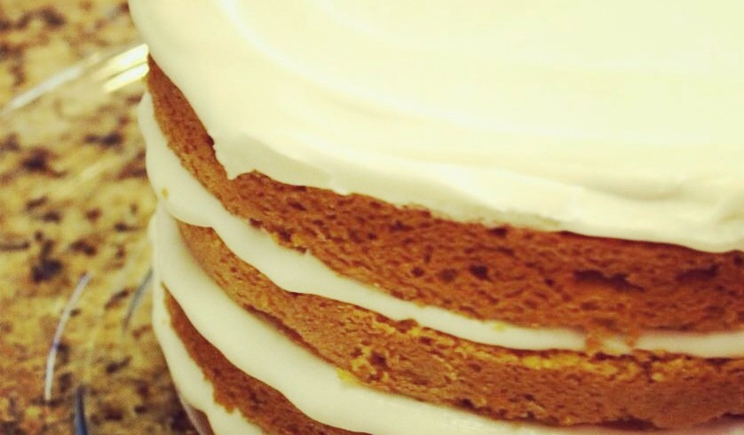 Pumpkin Chinese Five Spice Layer Cake with Maple Cream Cheese Frosting