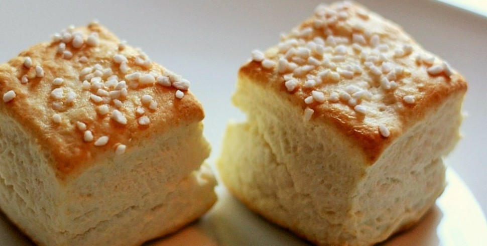 Cream Biscuits (2 Ingredients = Best. Biscuits. Ever.)