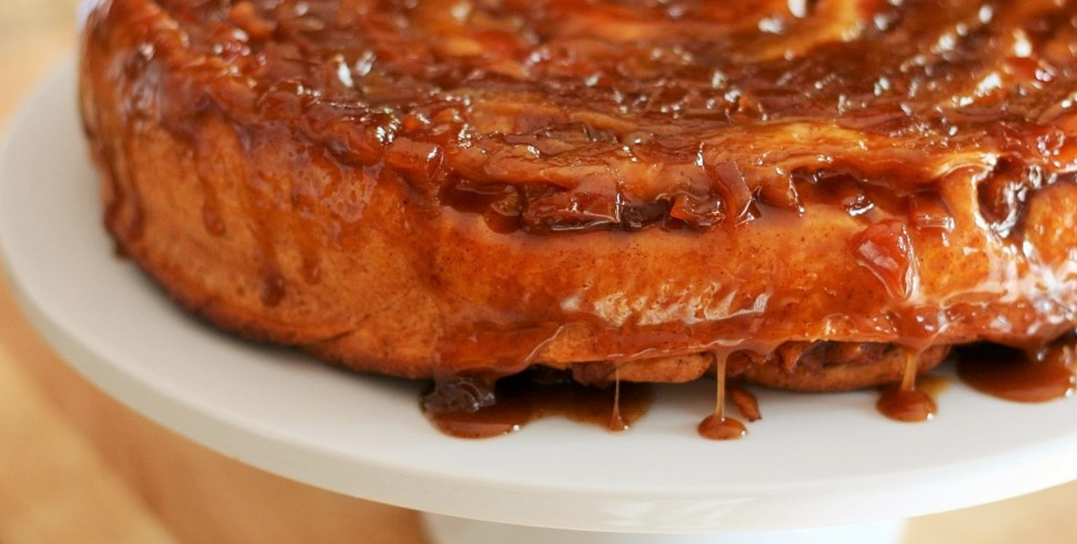 The Big Apple Caramel Cinnamon Roll