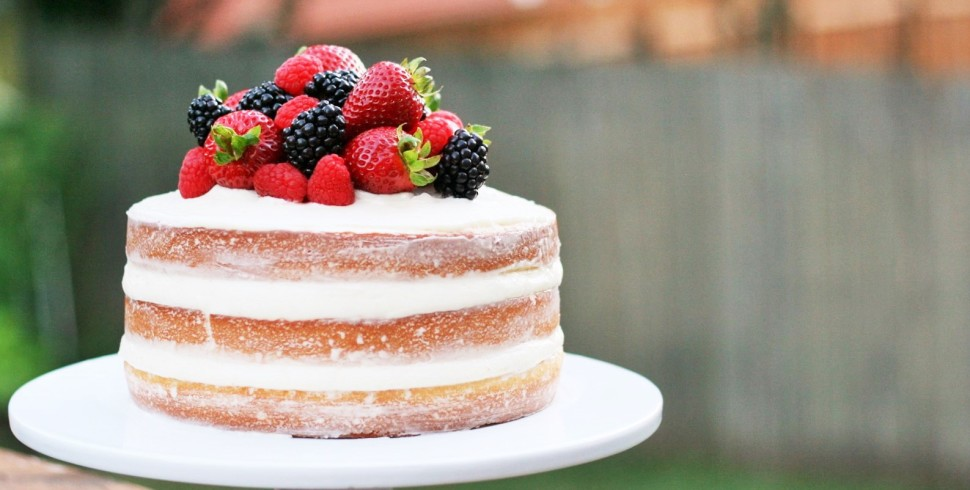 Citrus Berry Naked Cake