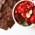 Chocolate Crisps With Strawberry Lime Salsa