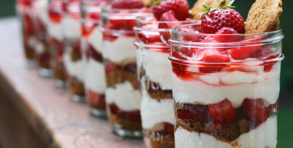 Strawberry Lemonade Cheesecake Jars
