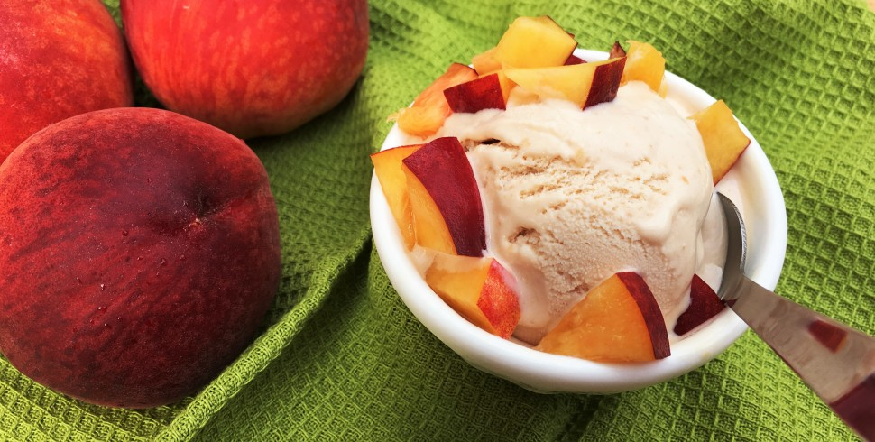 Summer Sweet Roasted Peach Ice Cream